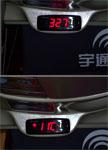 Hora y temperatura del autobús